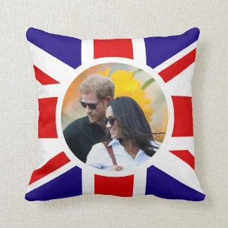 Prince Harry & Meghan Markle Throw Pillow