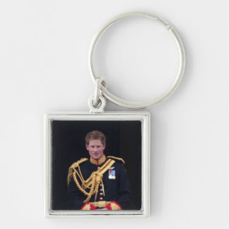 Prince Harry Silver-Colored Square Keychain