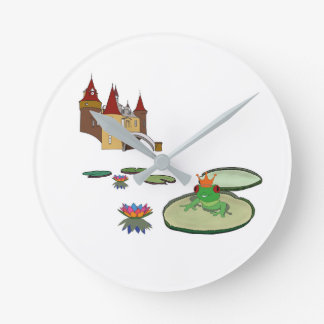 Prince Kikker - partition bell Round Clock