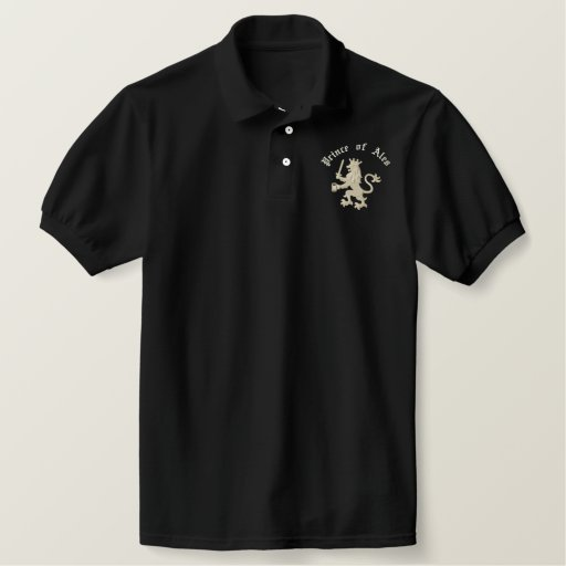 Prince of Ales Funny Drinking Pun Embroidered Polo Shirts