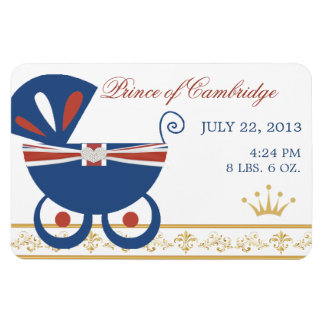 Prince of Cambridge Royal Baby Flat Magnet