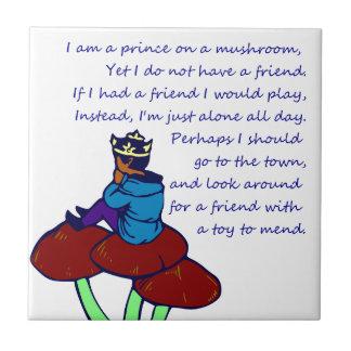 Prince on a Mushroom Poem Tiles