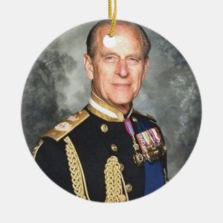 Prince Philip Ceramic Ornament