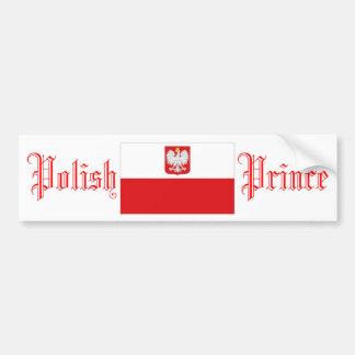 Prince polonais, adhésif pour pare-chocs autocollants pour voiture