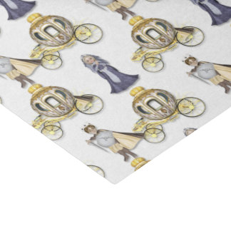 Prince Princess carriage party tissue paper