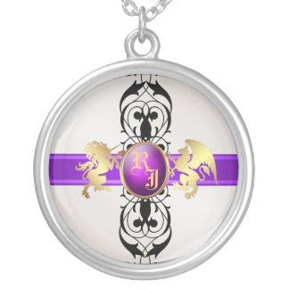 Prince & Princess Purple Jewel Monogram Necklace 2