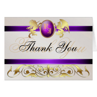 Prince & Princess Purple Jewel Thank You Notecard
