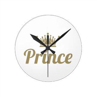 Prince Round Clock