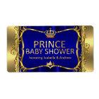 Prince Royal Blue Baby Shower Gold Boy