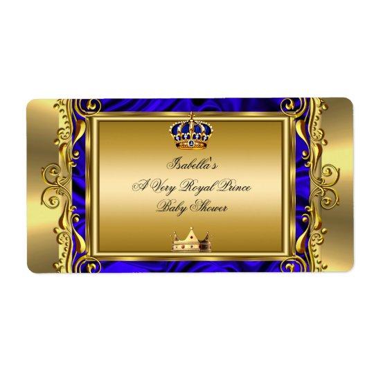 Prince Royal Blue Baby Shower Regal Gold Boy