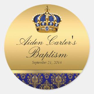 Prince Royal Blue Regal Crown Baptism Sticker