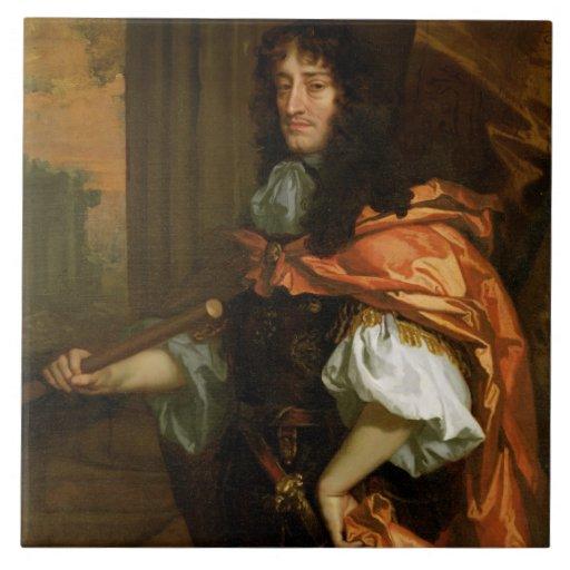 Prince Rupert (1619-82), c.1666-71 (huile sur la t Carreau En Céramique