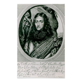 Prince Rupert of the Rhine engraved by William Poster