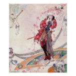 Prince Souci on the Fan by Kay Nielsen Poster