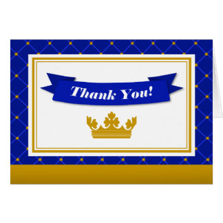 Prince Thank You Card Folded Note Card