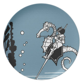 Prince & The  Seahorse Party Plate