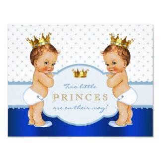 Prince Twin Boy Baby Shower Card