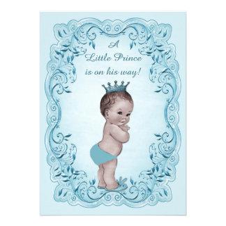 Prince vintage bleu baby shower