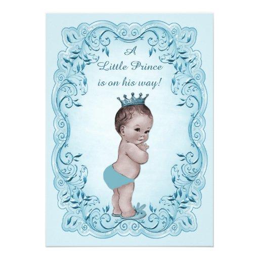 Prince vintage bleu baby shower bristols