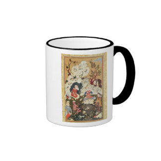 Prince visiting an Ascetic Ringer Coffee Mug