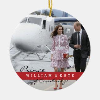 Prince William and Catherine Ceramic Ornament