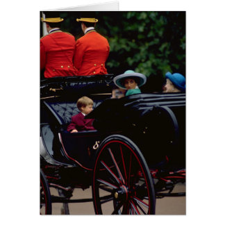 Prince William and Princess Diana on The Mall Card