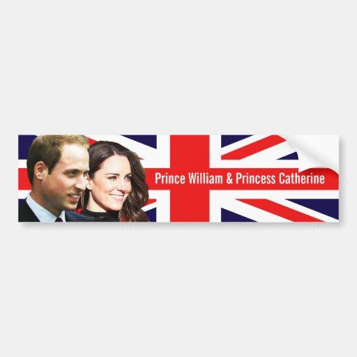 Prince William et adhésif pour pare-chocs de Kate Autocollant Pour Voiture