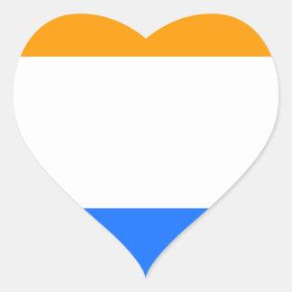 Prince's Flag Heart Sticker
