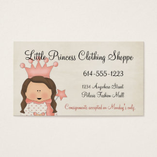 Princess 1 Child Business Cards