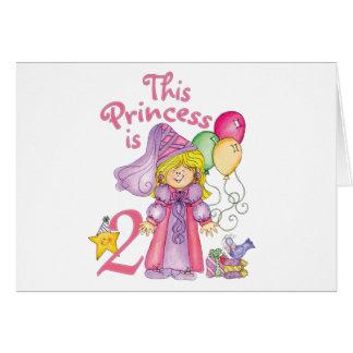 Princess 2nd Birthday Invitations Note Card