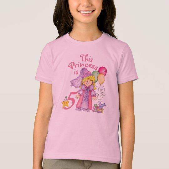 Princess 5th  Birthday T-Shirt