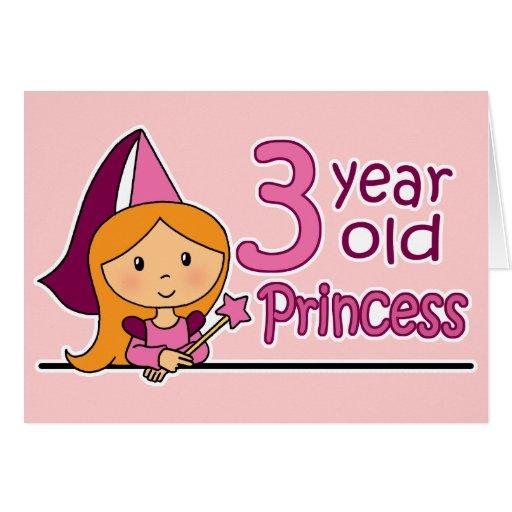 Princess Age 3 Cards