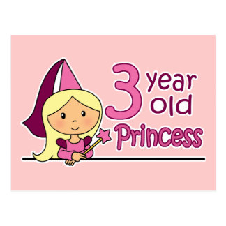 Princess Age 3 Postcards