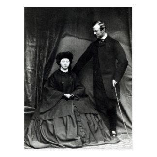 Princess Alice and Prince Ludwig of Hesse, 1860 Postcard