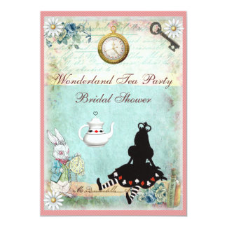 "Princess Alice in Wonderland Bridal Shower 5"" X 7"" Invitation Card"