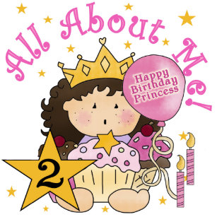 Princess 2nd Birthday Cards