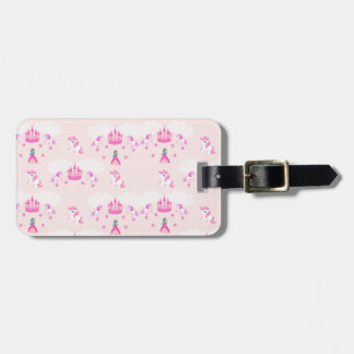 Princess and castle pattern Luggage Tag