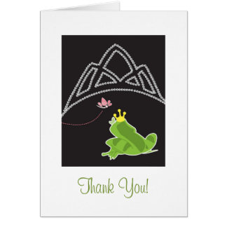 Princess and Frog - Thank You Card