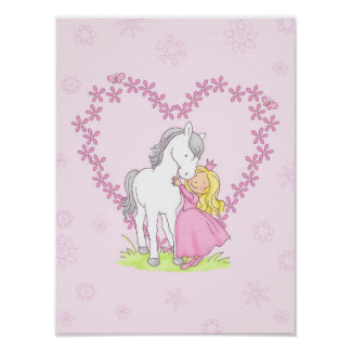 Princess and Horse Poster