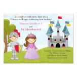 Princess and Knight Joint Birthday Party Custom Invitations