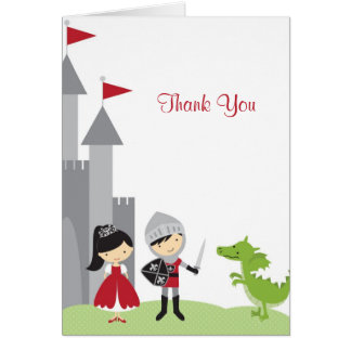 Princess and Knight Note Card