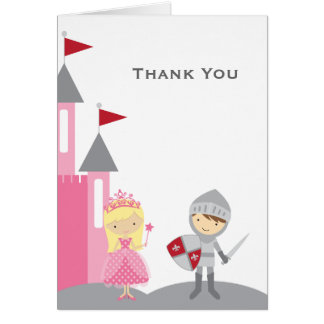Princess and Knight Note Cards