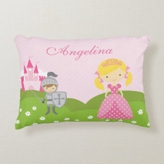 Princess and Knight pillow, personalized Decorative Pillow