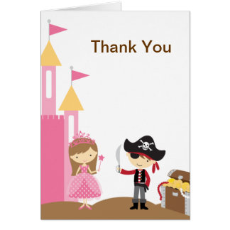 Princess and Pirate Note Card