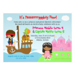 Princess and Pirate Twins Joint Birthday Party Personalized Invite