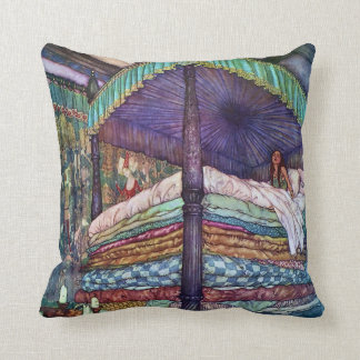 Princess and the Pea Edmund Dulac Fine Art Throw Pillow