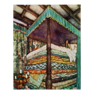 Princess and the Pea Fairy Tale Poster