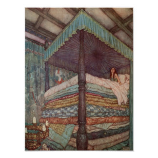 Princess and the Pea Poster Rackham Fairytale
