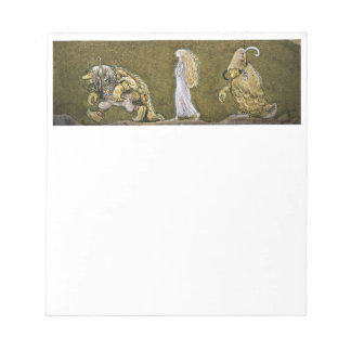 Princess and the Trolls Walking in Forest Notepad