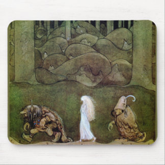 Princess and Trolls Walk Through Forest Mouse Pad